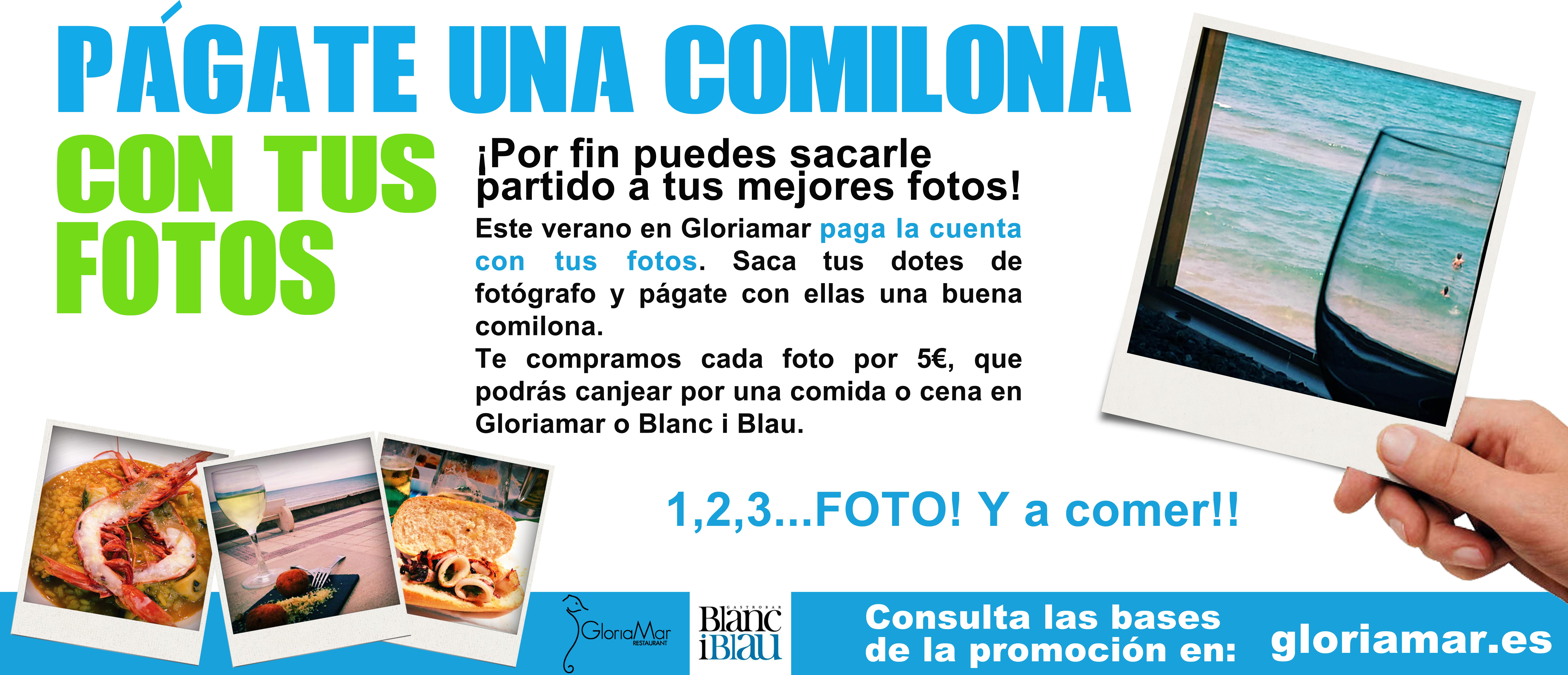 Promoción: Paga la cuenta con tus mejores fotos en Gloriamar