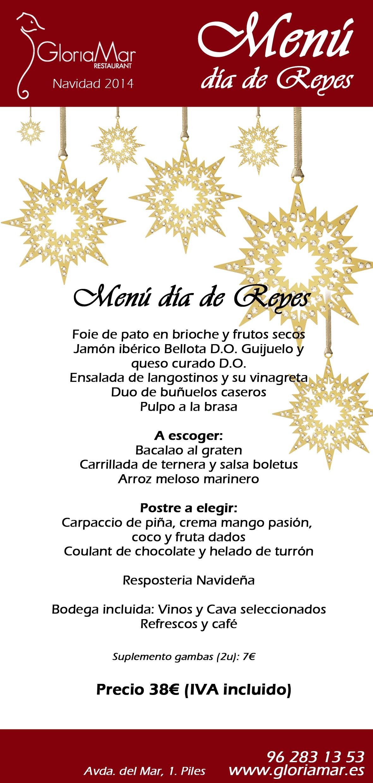 Menú día de Reyes