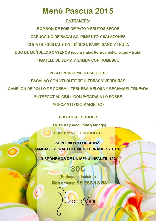 Menú degustación Pascua'15
