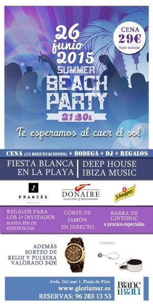 26 junio| Fiesta Blanca en la playa