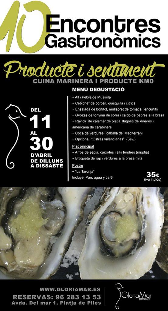 X Encontres gastronòmics | Gloriamar 2016