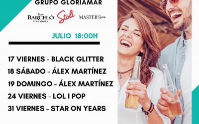 Tardeos Gloriamar, música en directo en la Playa de Piles