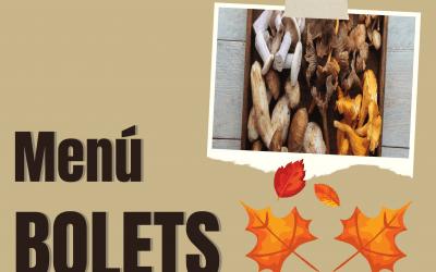 «Menú de bolets» del 21 de octubre al 7 de noviembre